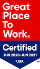 Great Place to Work Certified June 2020 to June 2021